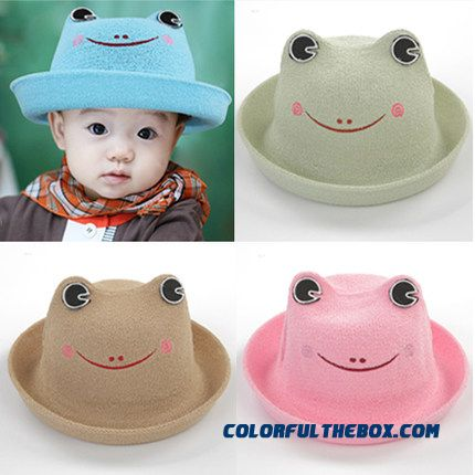 Spring And Summer Frog Modeling Boys And Girls Straw Hat Baby Kids Sunshade Hats