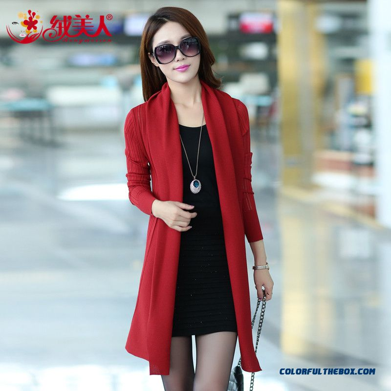 Cheap Spring Clothing Women Lady Cardigan Medium Long Slim Lace ...