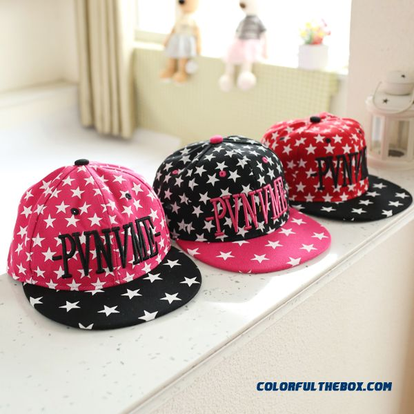 Spring Kids Letters Baseball Cap Girls Peaked Cap Fashionable Baby Hit Color Beard Adjustable Size Hat
