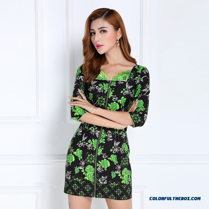 Spring New All-match Slim Three Quarter Sleeve Dress Suit Middle-aged Women High Quality Clothing
