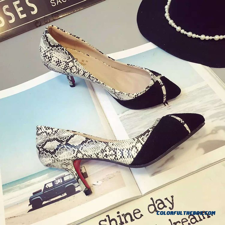 Spring New Hit Color Thin European And American Style Of High-heeled Women Pumps