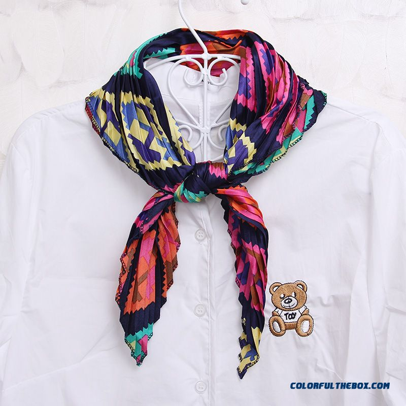 Square Scarf Joker Silk Scarves Fashion Knit Decorative White-collar Business Women Accessories