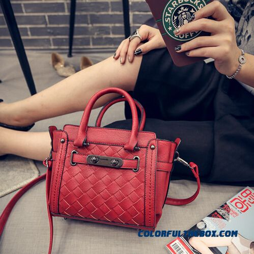 Stylish Weave Spin Lock Wome Shoulder Bags Durable Bags Top Sale
