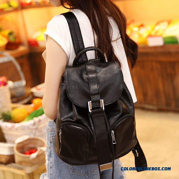 Summer 2015 New Shoulder Bags College Style Casual Genuine Leather Backpack Ladies Women Fashion Package