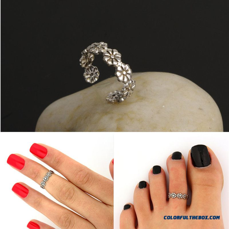 Summer All-match Little Daisy Flower Joint Ring Good Luck Foot Ring Jewelry For Women - more images 1