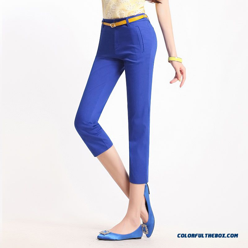 Summer Big Promotion Large Size Casual Pants Slim Thin Capri Pants