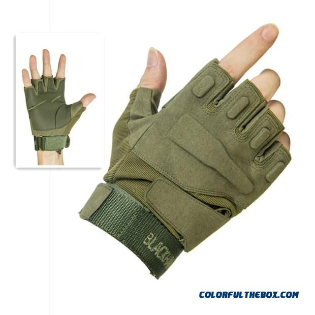 Summer Blackhawk Tactical Gloves Fishing Mountaineering Outdoor Driving Anti-slip Men And Women Half-finger Mittens
