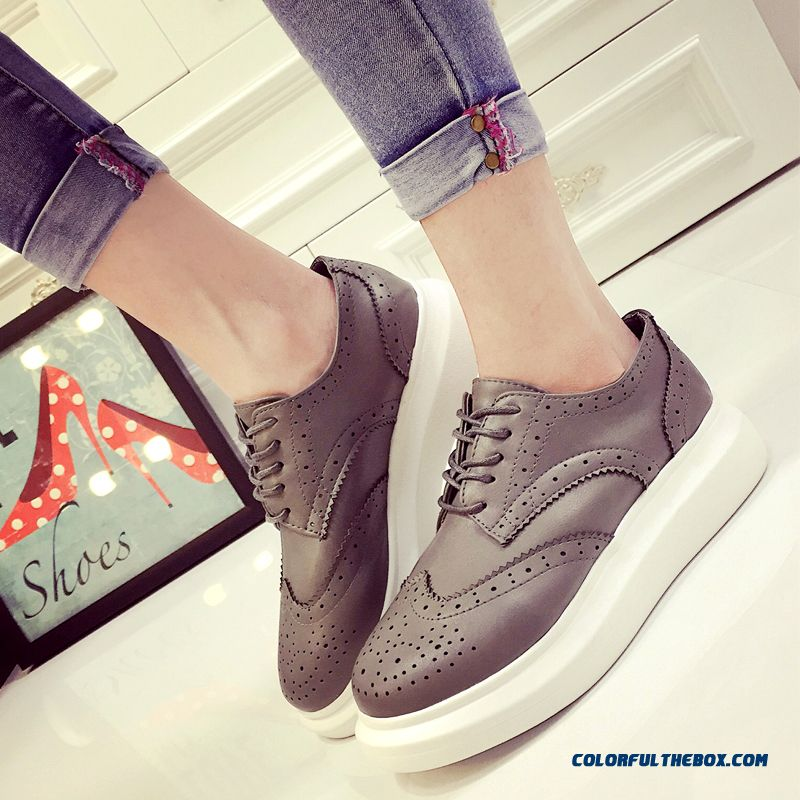 Summer Fashion Flat Casual Shoes Openwork Lace Sneakers White For Women