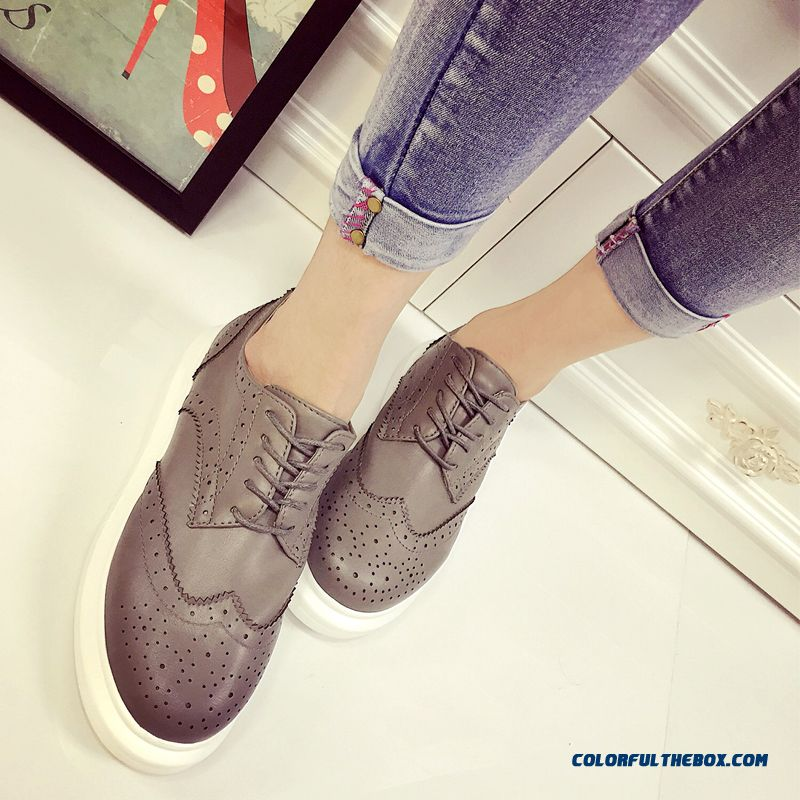 Summer Fashion Flat Casual Shoes Openwork Lace Sneakers White For Women - more images 3