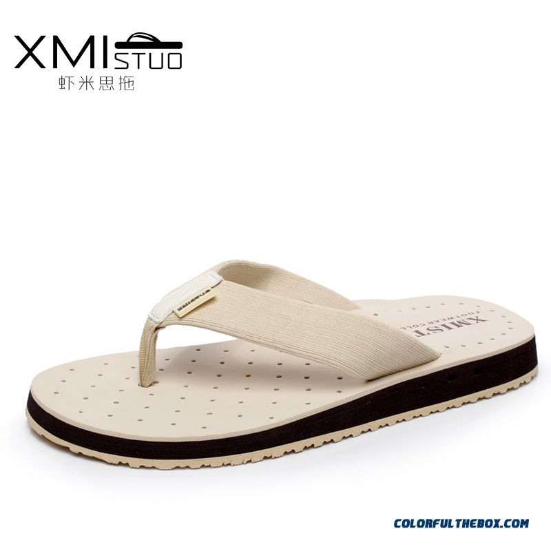 Summer Korean Version Tide Slippers Men Anti-skidding Flip-flops Toe Clip Beach Shoes
