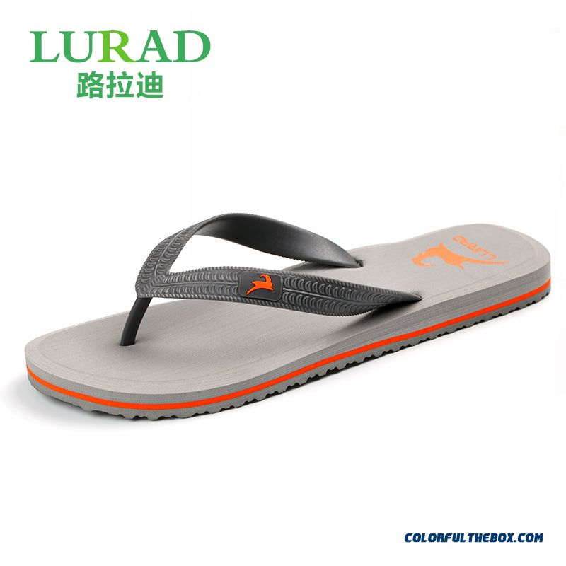 Summer Men Slippers Antiskid Flat Beach Shoes Trend In Europe And America