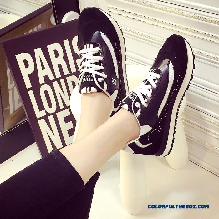 Summer New Black And White Sports Casual Shoes Fashion For Women - more images 1