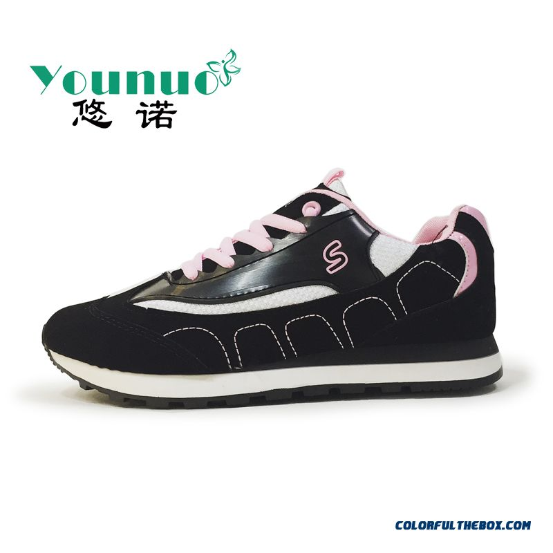 Summer New Black And White Sports Casual Shoes Fashion For Women - more images 2