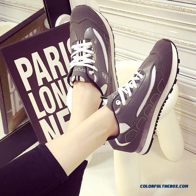 Summer New Black And White Sports Casual Shoes Fashion For Women - more images 3