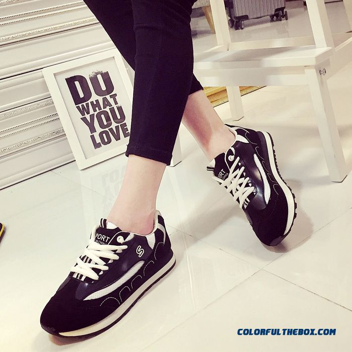Summer New Black And White Sports Casual Shoes Fashion For Women - more images 4