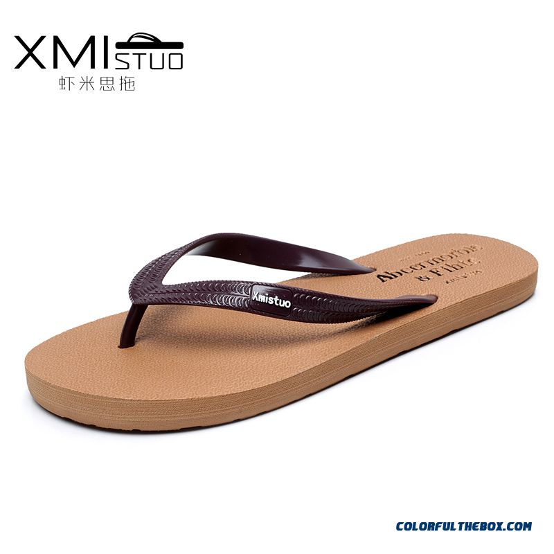 Summer New Fashion Couples Flip Flops Flat Antiskid Men Slippers