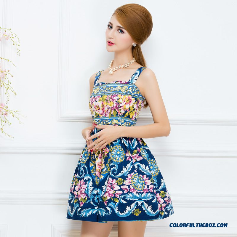 Summer New Fashion Floral Harness Vest Dress Special Offer For Women