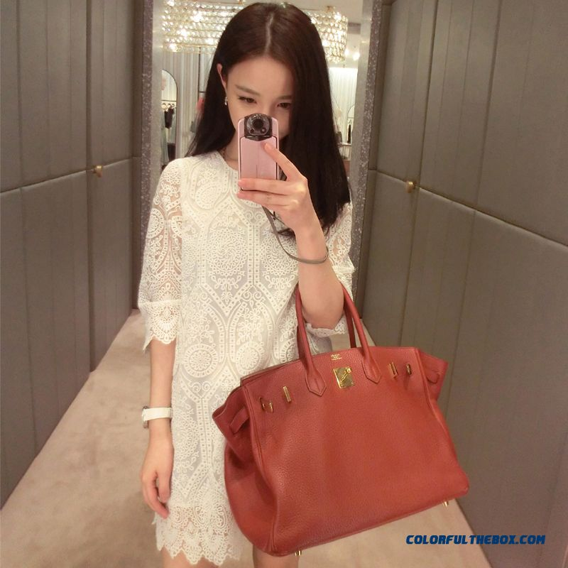 Summer New Women Lace Dress Slim Elegant Pure White Free Shipping
