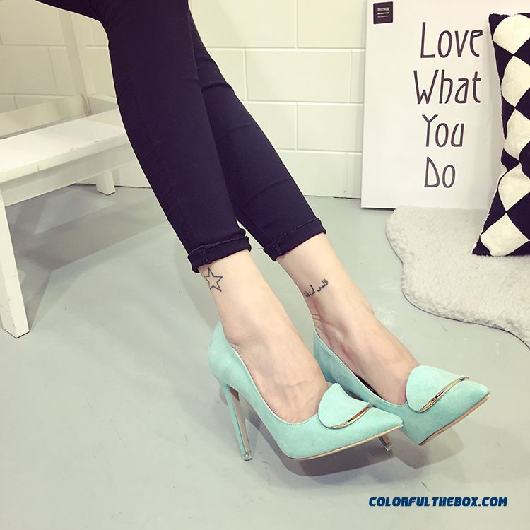 Summer New Women Shoes Pointed High-heeled Fine Heel Pumps Fashion