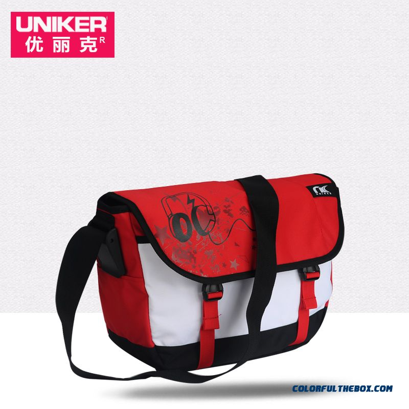 Summer Student Book A4 Large Space Waterproof Personality Unisex Men Crossbody Bags