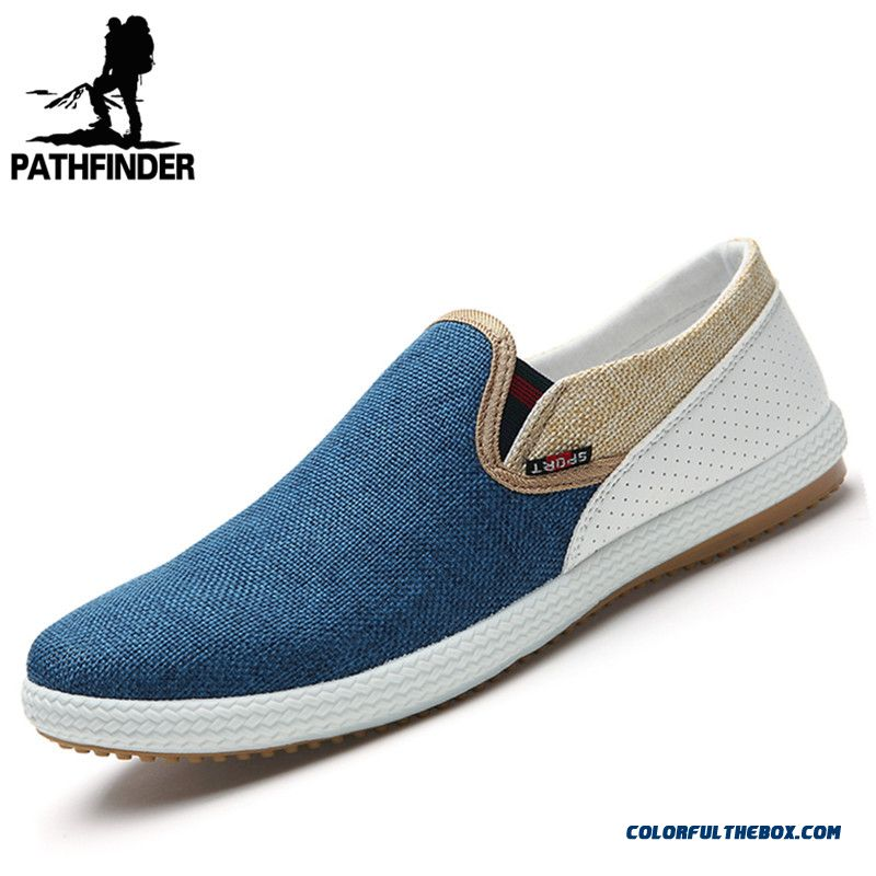 Summer Style Blue Fashion Men Canvas Shoes Men Casual Shoes Comfortable Breathable Loafers Men Flats Shoes
