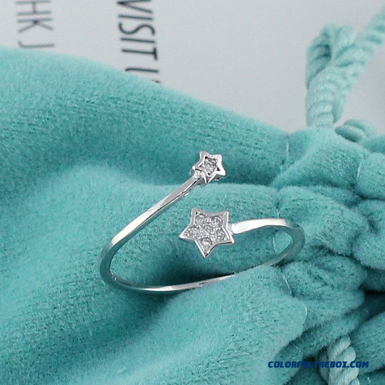 Super Mini Rings Silver Opening Women Ring Small Tail Ring Jewelry