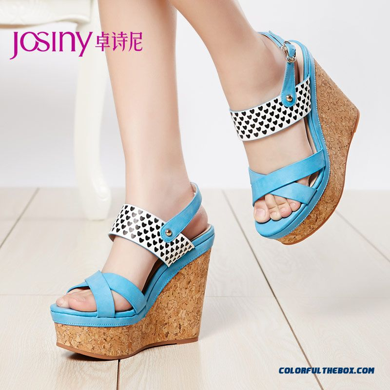 Sweet New Summer Sandals Higher And Wedge Heel Casual Women Shoes Sexy