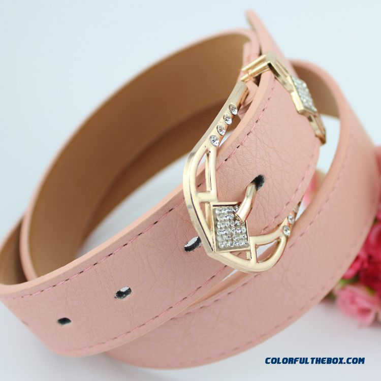 Sweet Women All-match Ladies Love Fashion Diamond Cummerbuns Wide Belt Free Shipping
