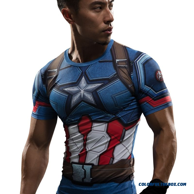 T Shirt Captain America Civil War Tee 3d Printed T-shirts Men Iron Man Fitness Gym Clothing Male Crossfit Tops Compression