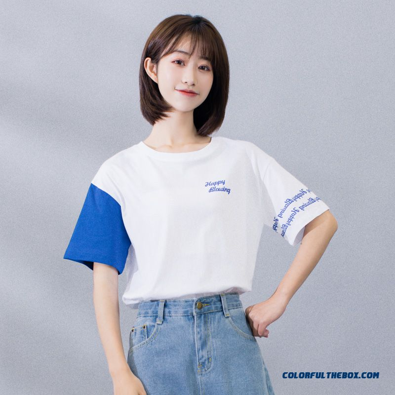 T-shirt Cotton Trend New White Women's Ultra Summer Coat Short Sleeve 2019 Loose Europe T-shirt
