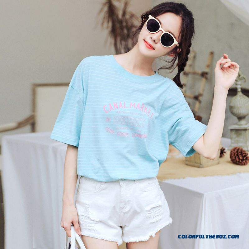 T-shirt Short Sleeve Coat Women's Summer Ultra Red All-match New Trend Pure Cotton T-shirt Loose Student 2019