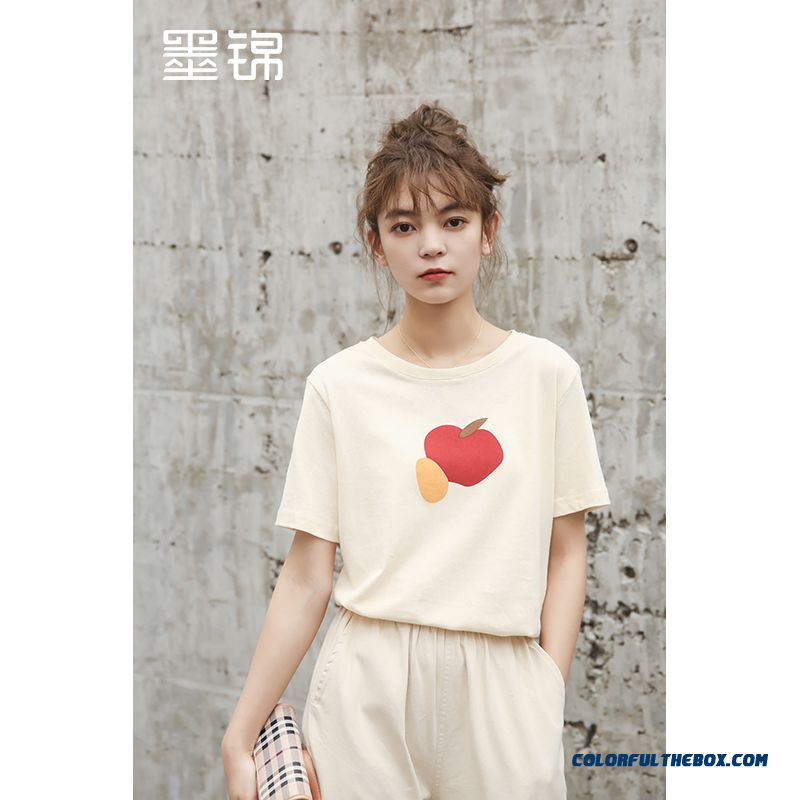 T-shirt Trend Loose New Coat Girl Bottoming Shirt Women's 2019 Short Sleeve T-shirt