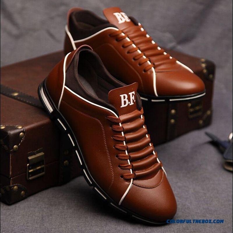 The Autumn Of New Men's Trend Of Men's Shoes Casual Shoes Leather Shoes Breathable Male On Sale