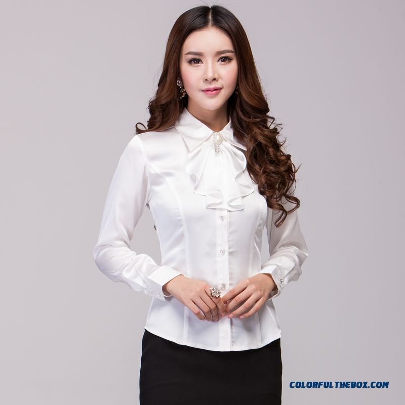 The Finest Quality Elegent Slim Long-sleeved Women's Shirt Hot Selling - more images 2