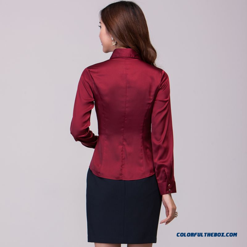 The Finest Quality Elegent Slim Long-sleeved Women's Shirt Hot Selling - more images 3