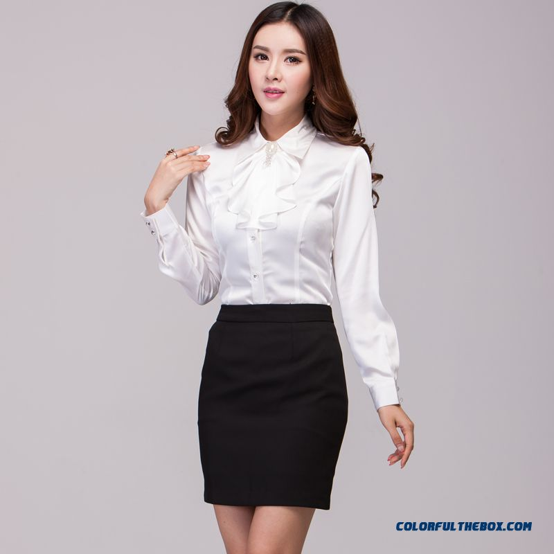 The Finest Quality Elegent Slim Long-sleeved Women's Shirt Hot Selling - more images 4