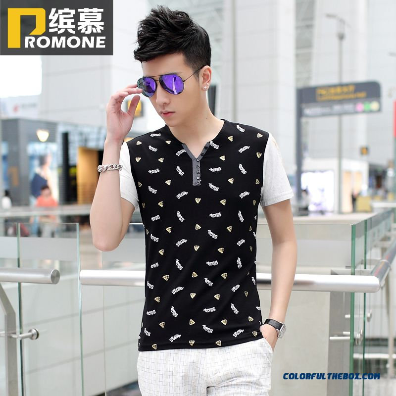 The Lastest Summer Men's Short-sleeved Tees Slim Fashion Comfortable