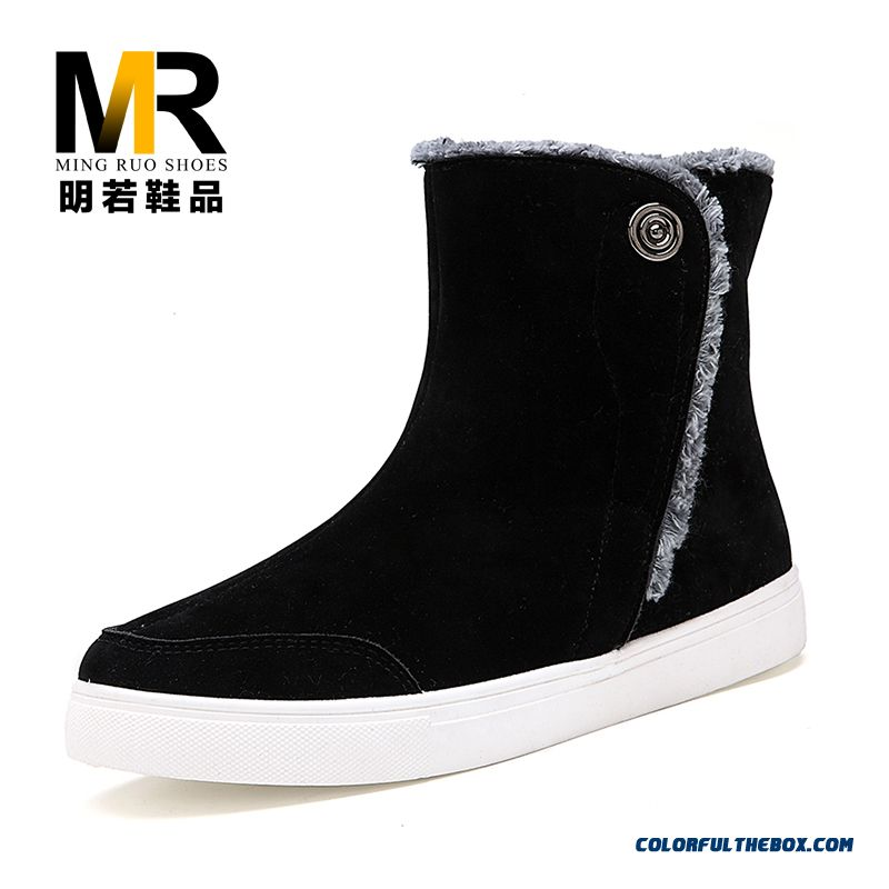 The Latest Popular Plus Velvet Warm Thicken Men Boots Shoes