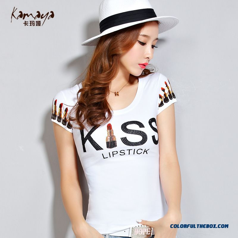 The Newest Style Fashionable Summer Women T-shirt Letter Short Sleeve