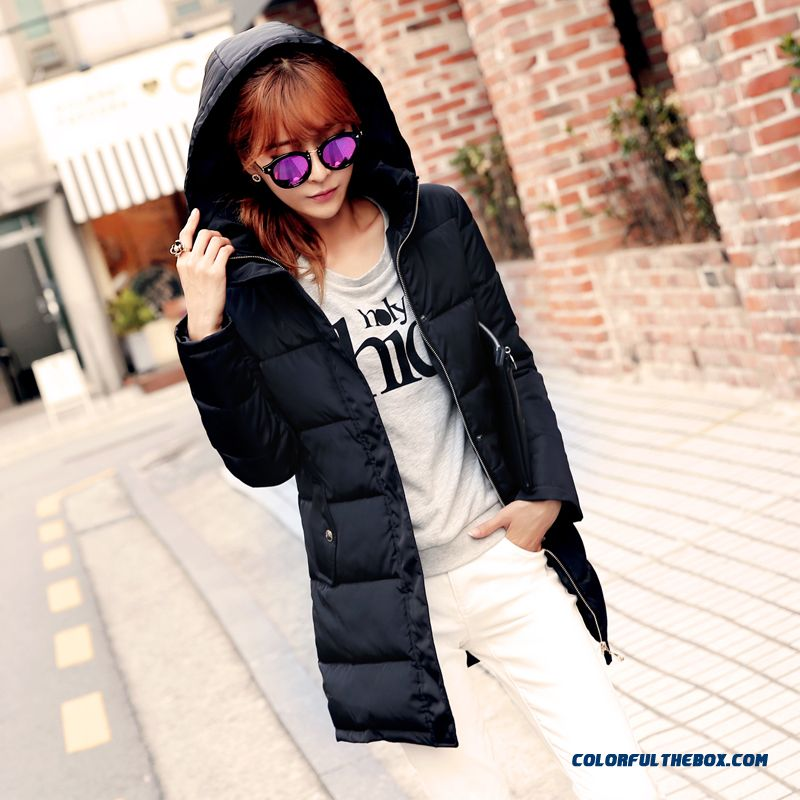 The Newest Style Fashionable Women Coats Plus Size Thicken Slim Black Promotion
