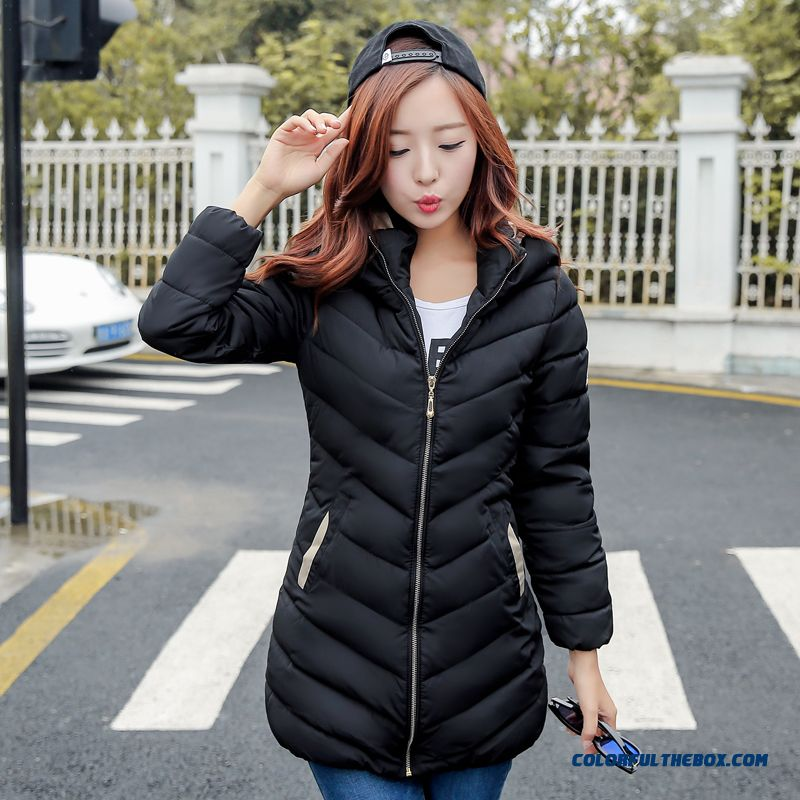 The Newest Style Fashionable Women Hooded Coat Thicken Short Black Red