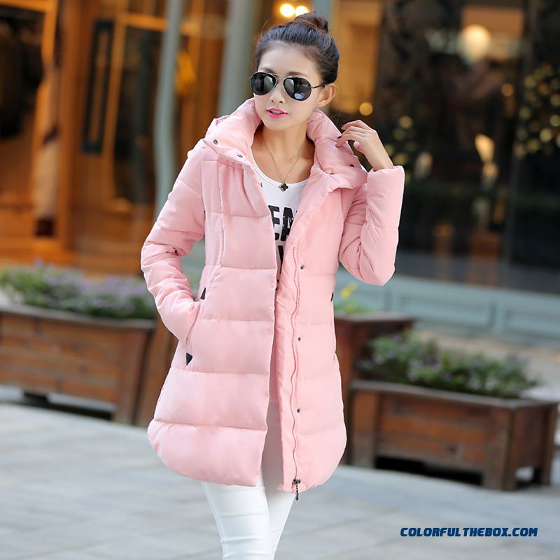The Newest Style Fashionable Women Hooded Coats Plus Size Thicken Slim Pink