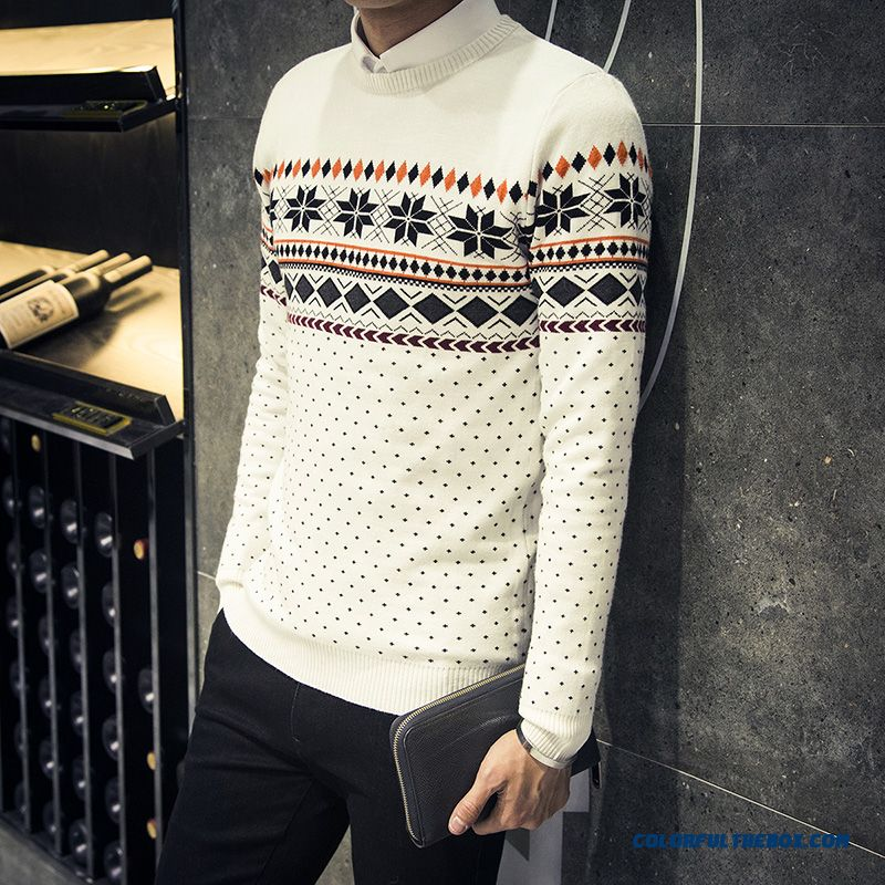 Thick Long-sleeved Bottoming Shirt Pullover Sweaters Coat Men Clothing Tide
