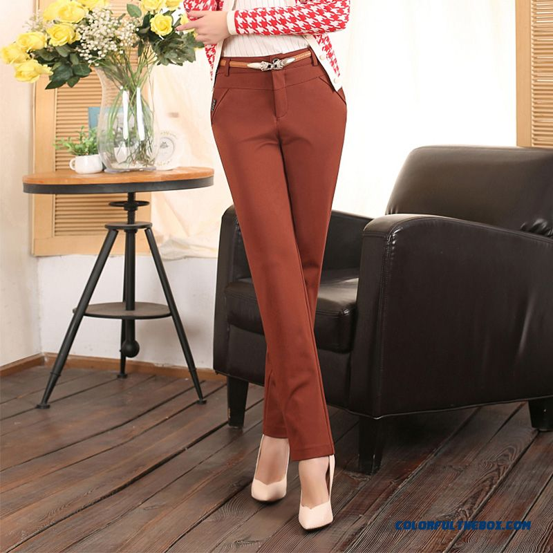 Thickening Large Size Women Pants Casual Pants Straight Elastic Leggings Slim Thin Outer Wear Pants