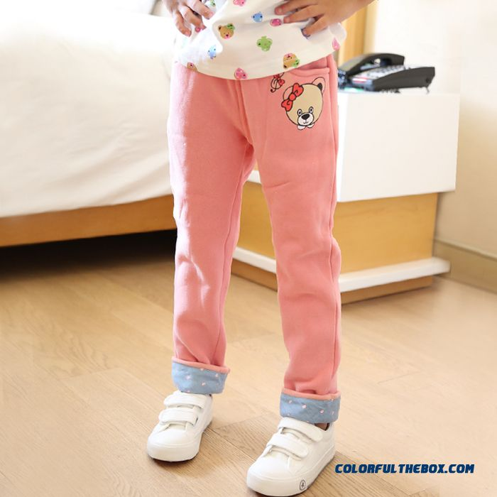 Thin Cashmere Fashion Girls Korean Style Kids Long Pants Straight Pants