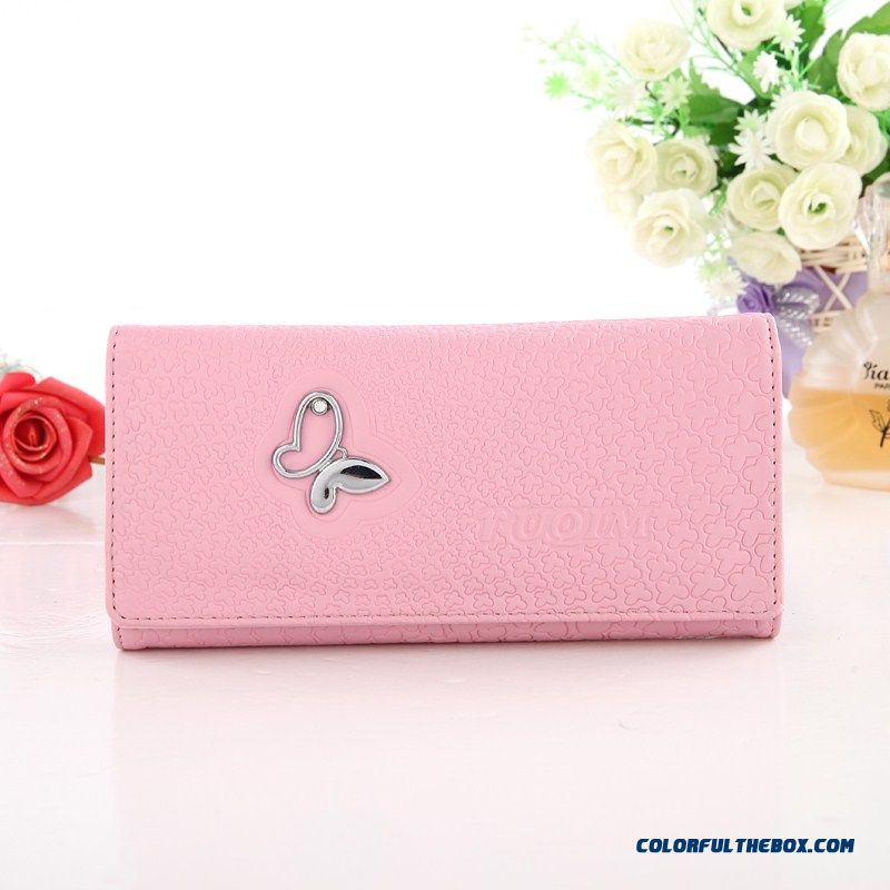 Three Fold Small Zipper Clutch Women Long Wallets With Diamond Fashion Chic