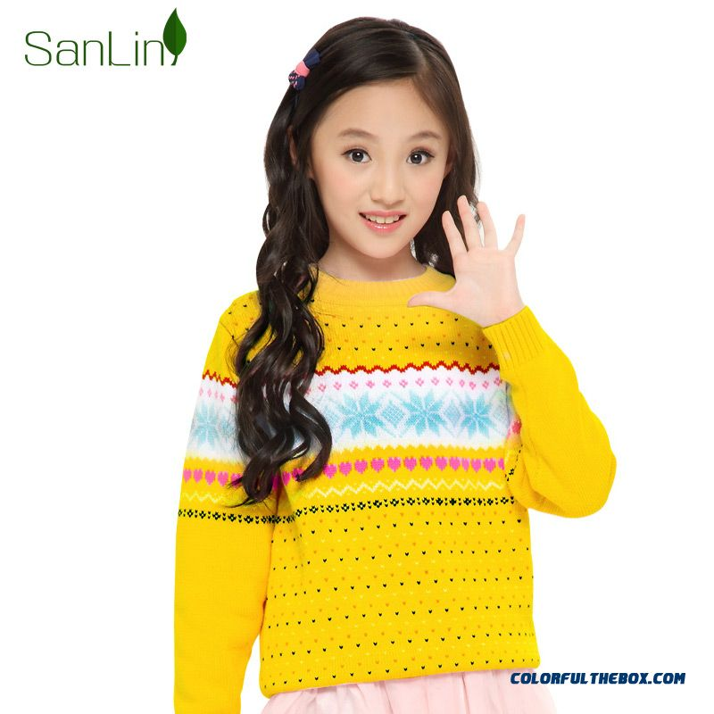 34fa3754d77 ... Three Forest Girls Sweater Pullover Knitted Jacket New Autumn Kids  Clothing Kids Long-sleeved Striped