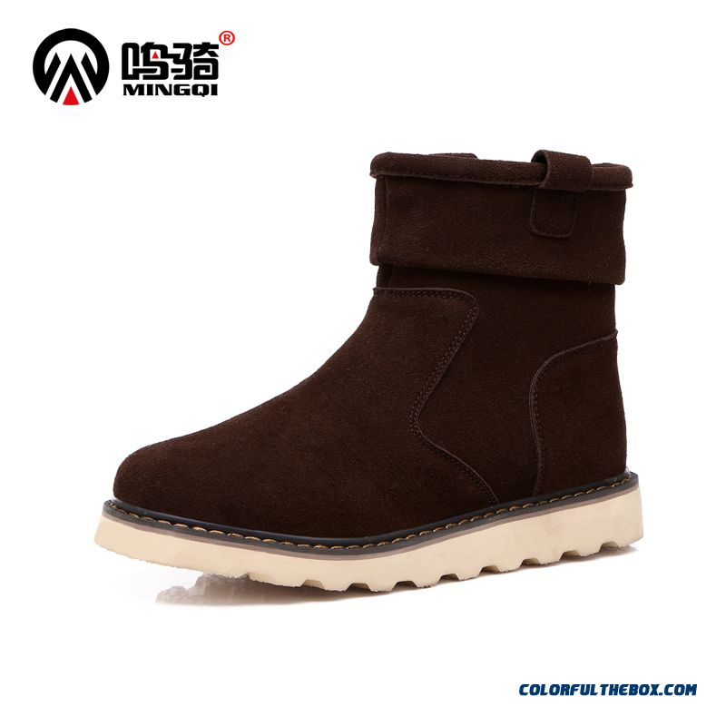 Top Sale Winter Plus Velvet Warm Cotton Short Men Army Boots Shoes