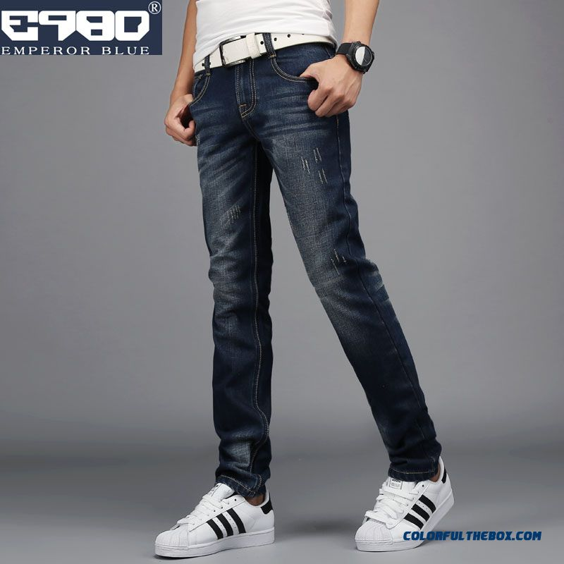 Top Selling Fall Winter Retro Slim Straight Jeans Korean Version
