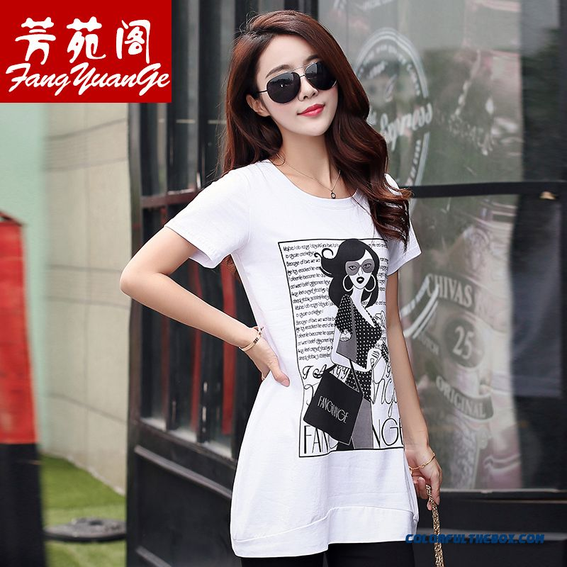 Top Selling Women Short-sleeved T-shirt Print Loose Medium Style